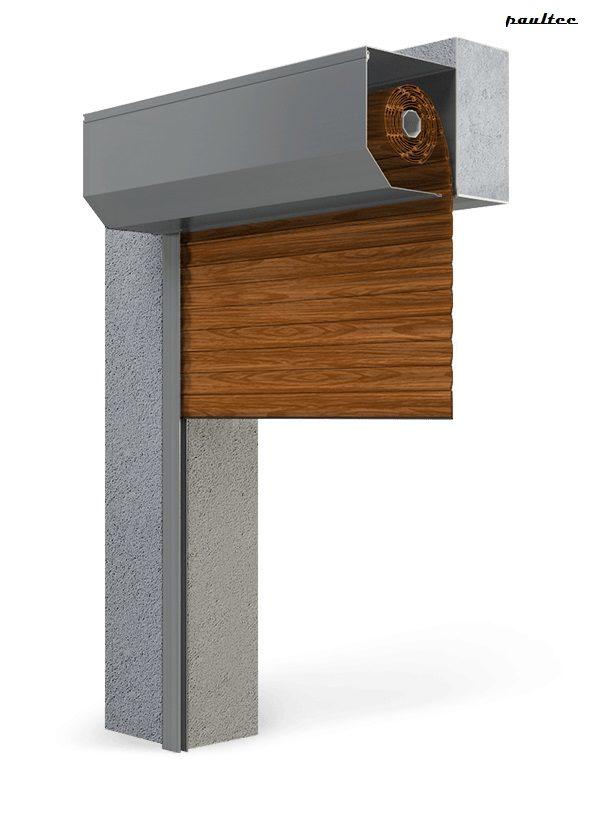 Garagentore Rolltore Holz dunkel - Antrieb Fernbedienung Zubehör
